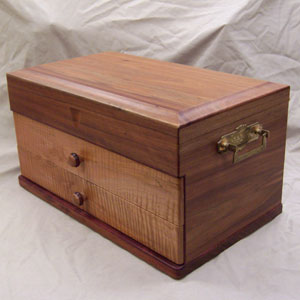 Gary Johnson's handmade wooden jewelry box