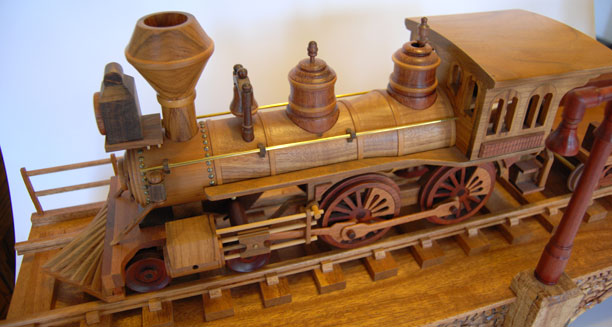 Gary Johnson's handmade wood train